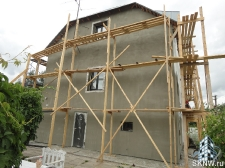 Реновация дома - утепление пенополистиролом (ППС) и нанесение силикатной декоративной штукатурки Атлас