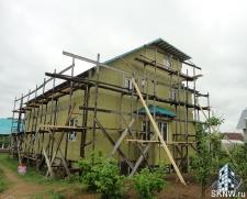 Фасадная штукатурка каркасного дома на минеральную вату_15