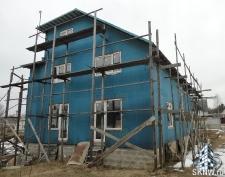 Фасадная штукатурка каркасного дома на минеральную вату_16