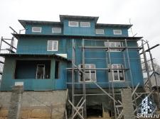 Фасадная штукатурка каркасного дома на минеральную вату_1