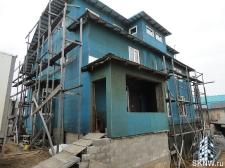 Фасадная штукатурка каркасного дома на минеральную вату_2