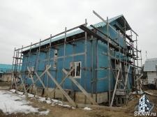 Фасадная штукатурка каркасного дома на минеральную вату_3