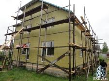Фасадная штукатурка каркасного дома на минеральную вату_4