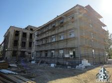 Реноация фасада декоративной штукатуркой ATLAS и архитектурными элементами_12