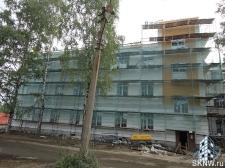 Реноация фасада декоративной штукатуркой ATLAS и архитектурными элементами_13