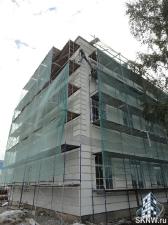 Реноация фасада декоративной штукатуркой ATLAS и архитектурными элементами_14