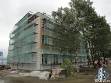Реноация фасада декоративной штукатуркой ATLAS и архитектурными элементами_15